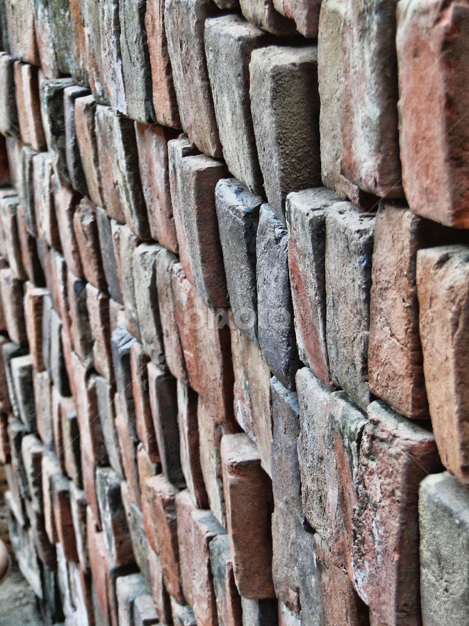 Bricks by Kosygin Leishangthem - Abstract Patterns ( shapes geometric patterns ,  )