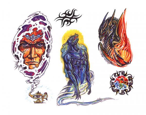 Design Of Fantasy Tattoo, Fantasy Tattoo Designs