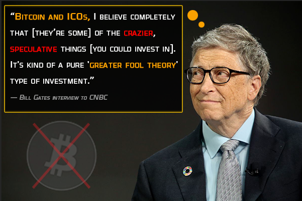 Bill gates call bitcoin a greater fool theory and a joke
