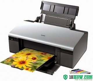 How to reset flashing lights for Epson R290 printer