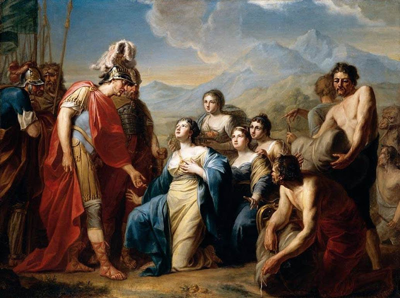 Queen Of Sheba Kneeling Before Johann Friedrich August, King Solomon