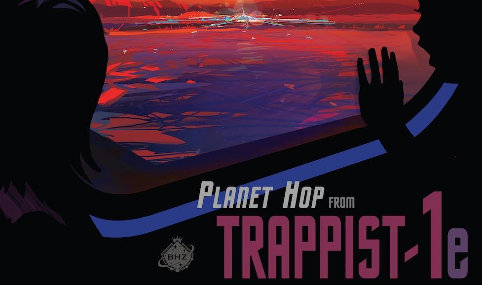 Những poster lấy cảm hứng từ hệ hành tinh TRAPPIST-1