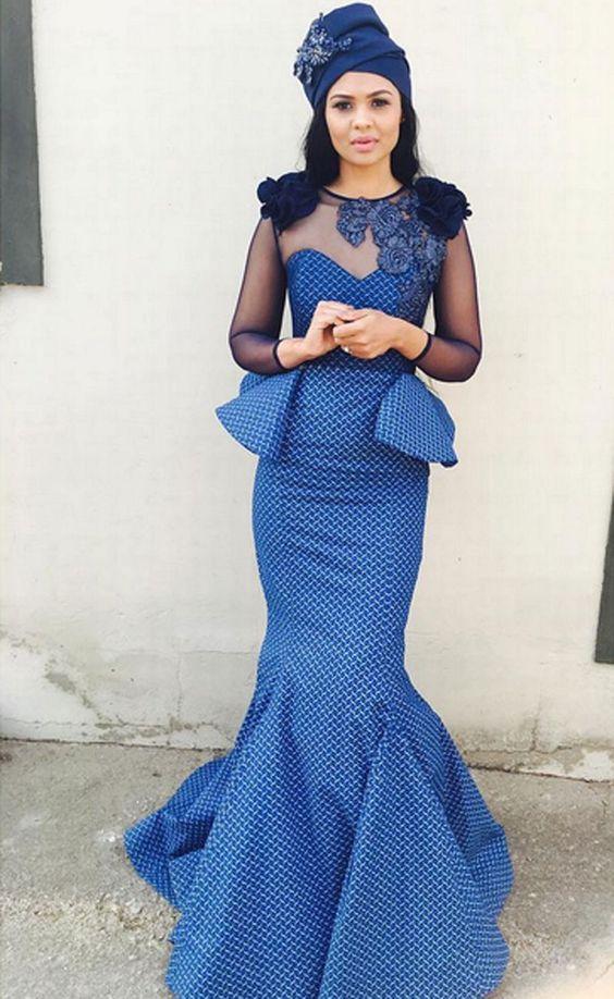 shweshwe dresses for wedding _South African Traditional Dresses 3