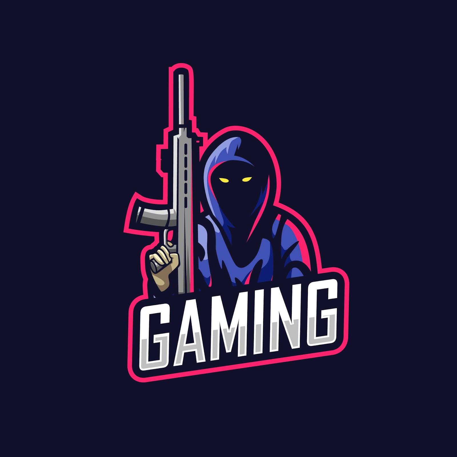 Killer Man Gaming Logo Free Download Vector CDR, AI, EPS and PNG Formats