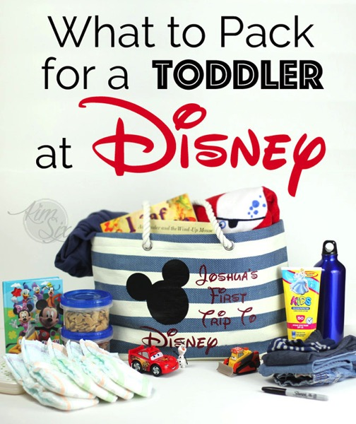 What to pack for a toddler at Disney2
