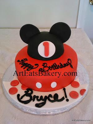 Mickey Minnie Mouse custom birthday cakes Art Eats Bakery
