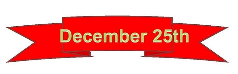 25 December banner