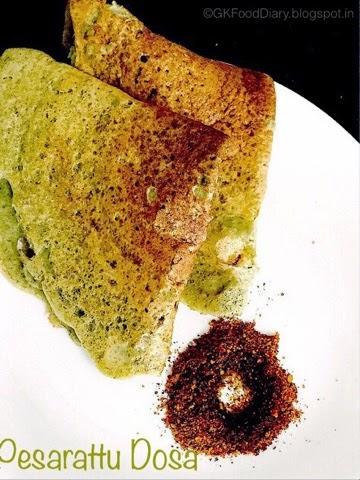 Pesarattu Dosa Recipe (Andhra Special Pesarattu)