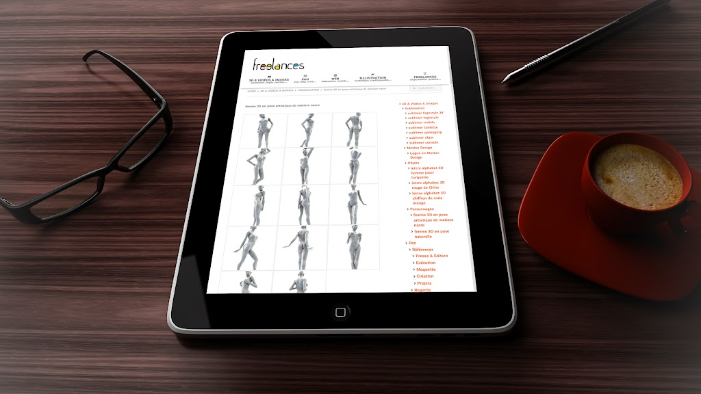 capture écran pour tablettes sublimer présentation responsive web design conception site web adaptatif iPad 3D