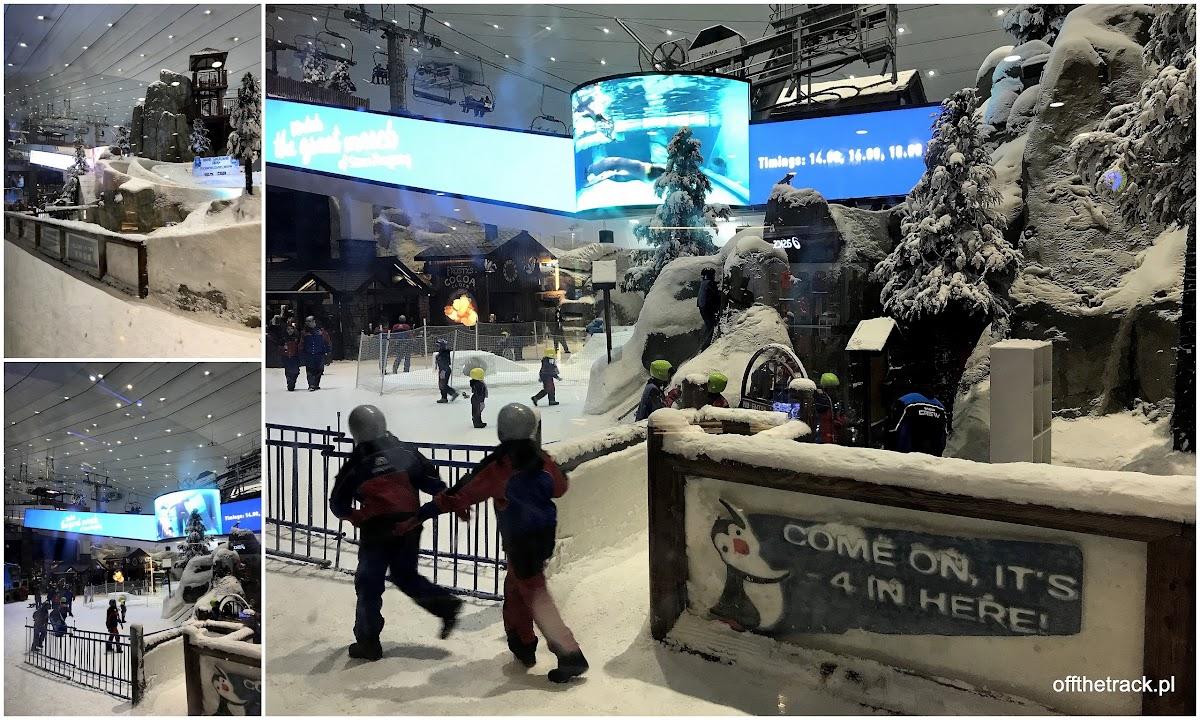 Stok narciarski i śnieżne miasteczko w centrum handlowym Emirates w Dubaju, Zjednoczone Emiraty Arabskie