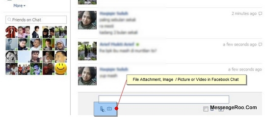 Attachement Features File Photo Video Send Facebook Chat