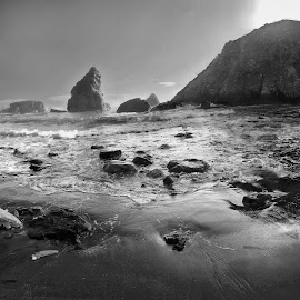 Hole In The Wall by Megary T - Black & White Landscapes (  )