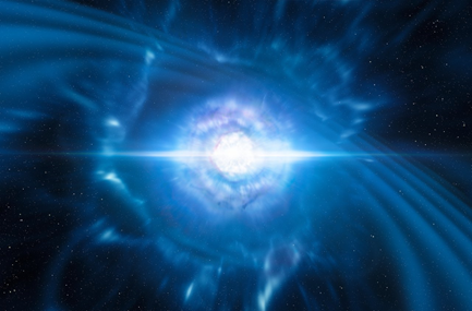ilustração das estrelas de nêutrons coalescentes