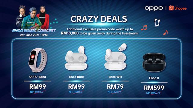 WATCH THE OPPO ENCO MUSIC CONCERT, PROMO CODE UP FOR GRABS