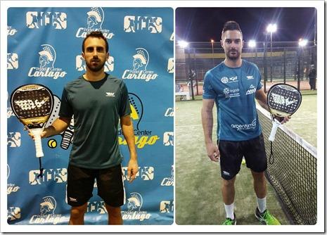 En la imagen Victor Ruiz (izquierda) y Cristian Ramos (derecha). Wingpadel avanza con solidez.