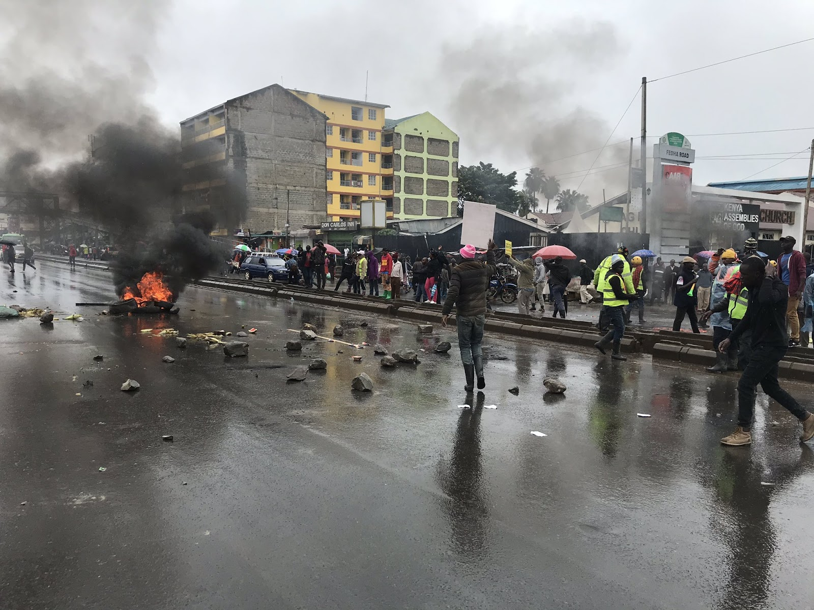 Sonko supporters protests for for the release of city boss mike sonko
