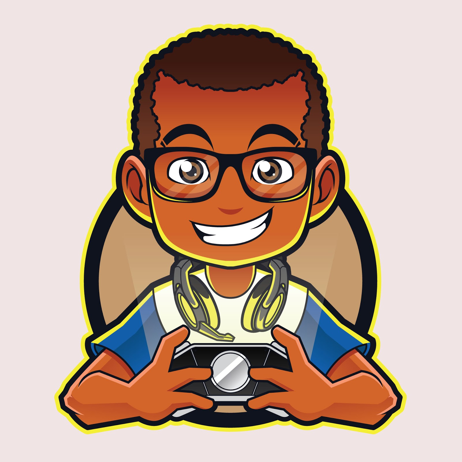 Gamer Boy Mascot Free Download Vector CDR, AI, EPS and PNG Formats