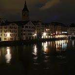 zurich by night in Zurich, Zurich, Switzerland