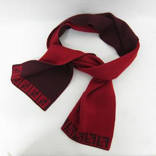 Fendi Two-Tone Knit Scarf