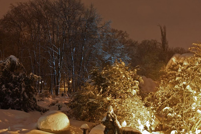 iarna zapada noapte Bucuresti fotografie