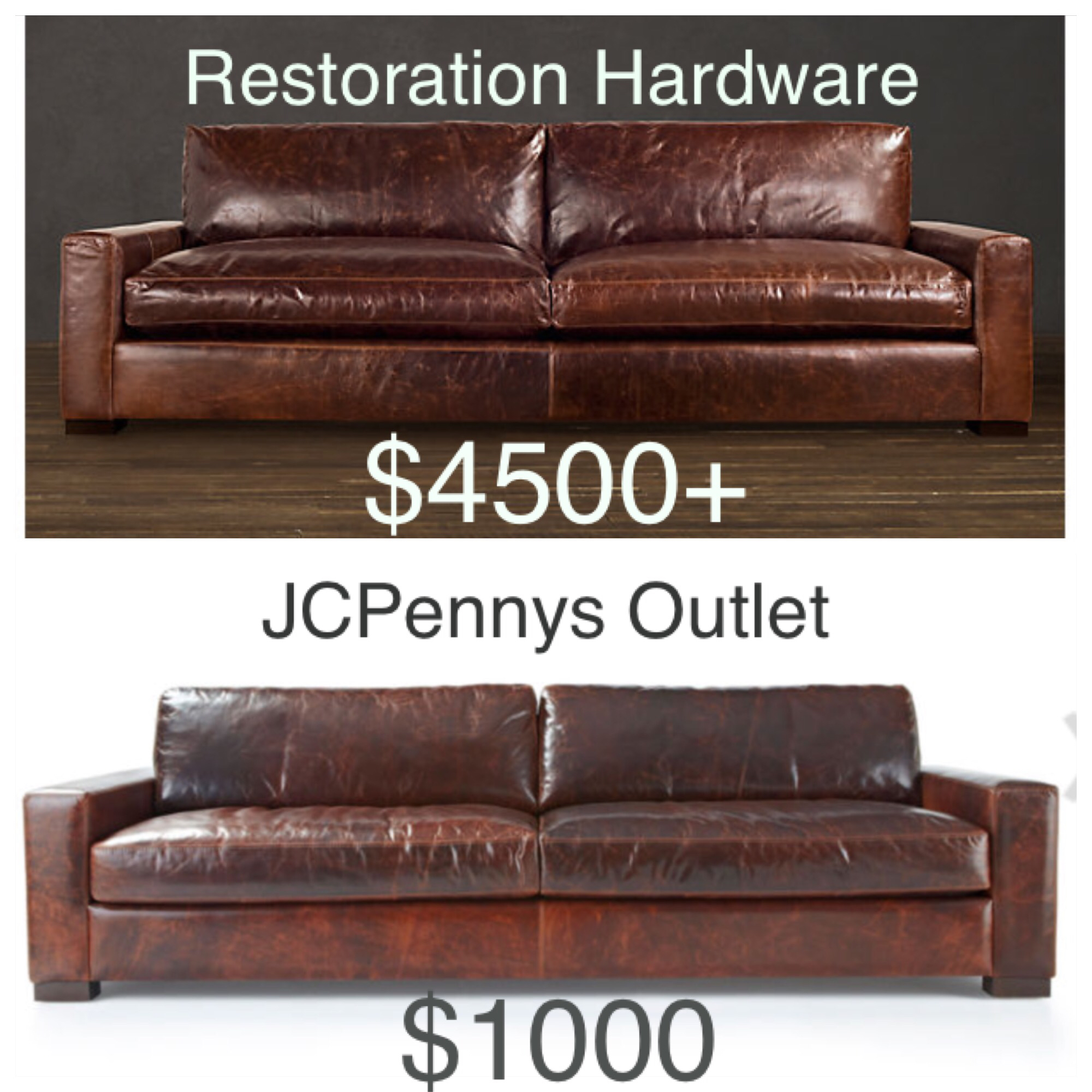 Sofas like restoration hardware decorist i thought for Who manufactures restoration hardware furniture