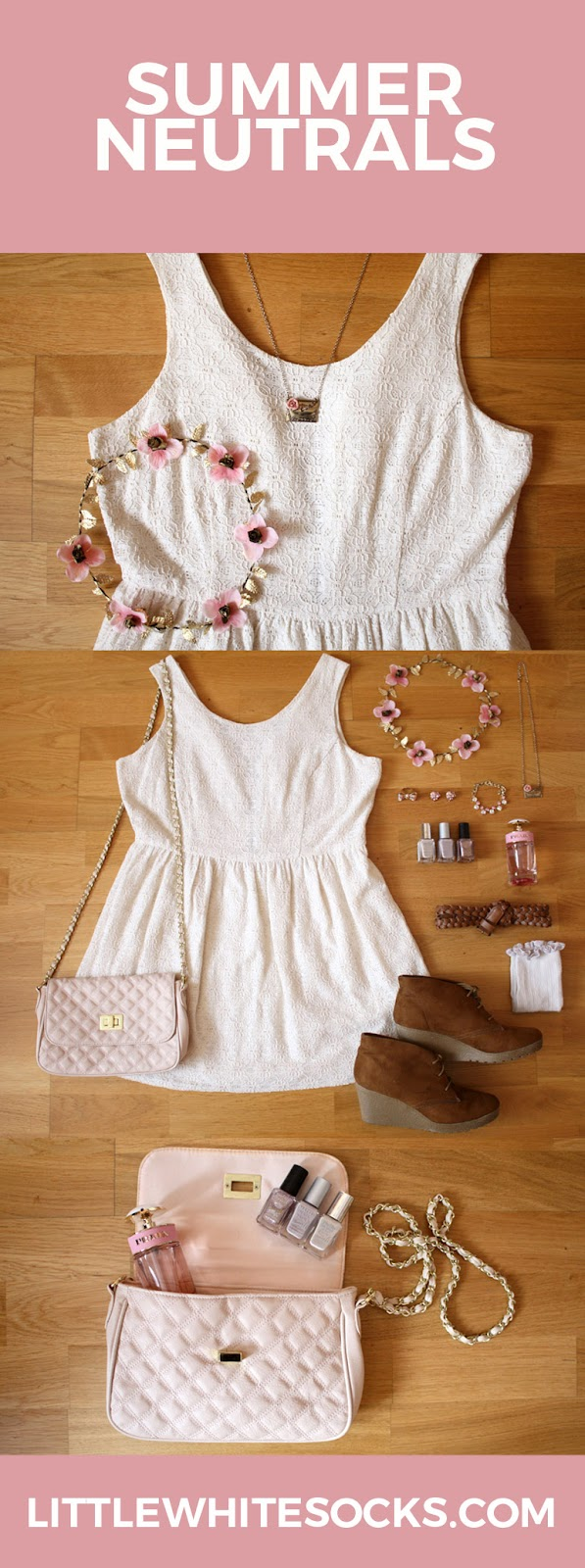 cream lace summer dress outfit