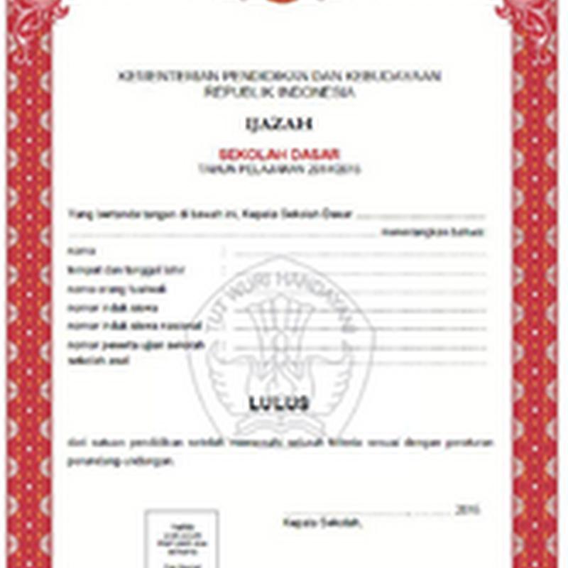 Contoh Format Surat Keterangan Lulus Ujian Dan Shun Sementara Al
