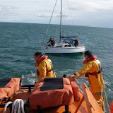 9 October 2011 - the ALB starts to tow the yacht back to Poole Harbour
