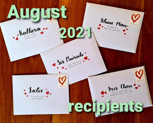 August 2021 Happy Mail for Hugs in a Card project