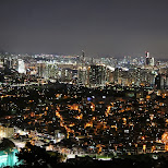 night view from the N Seoul tower in Korea in Seoul, Seoul Special City, South Korea