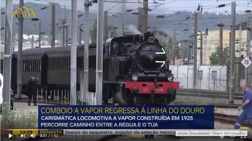 Vídeo - Douro volta a ter locomotiva a vapor