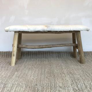 Rustic Hide Bench