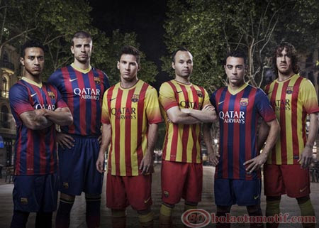 Jersey Home dan Away Barcelona 2014