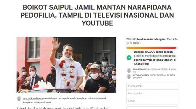 TOK! Publik Serukan Boikot Saipul Jamil Muncul di TV karena Pelaku Ped0filia