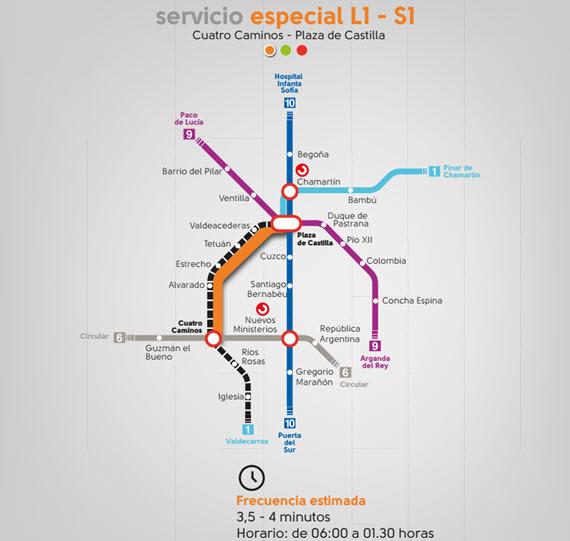 Autobuses EMT para el cierre por obras del Metro línea 1 desde  desde el 18 de junio