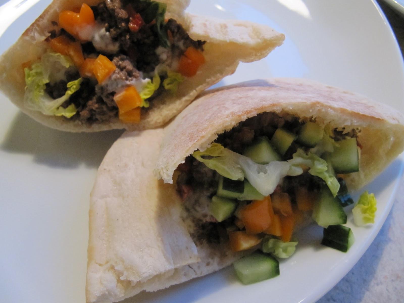 Hanne K's verden: Pitabrød ... hurtig aftensmad i en travl uge