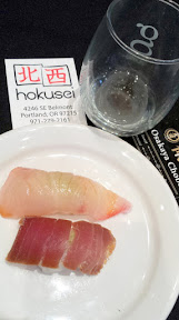 Scenes from Sake Fest PDX 2015 - sushi from hokusei