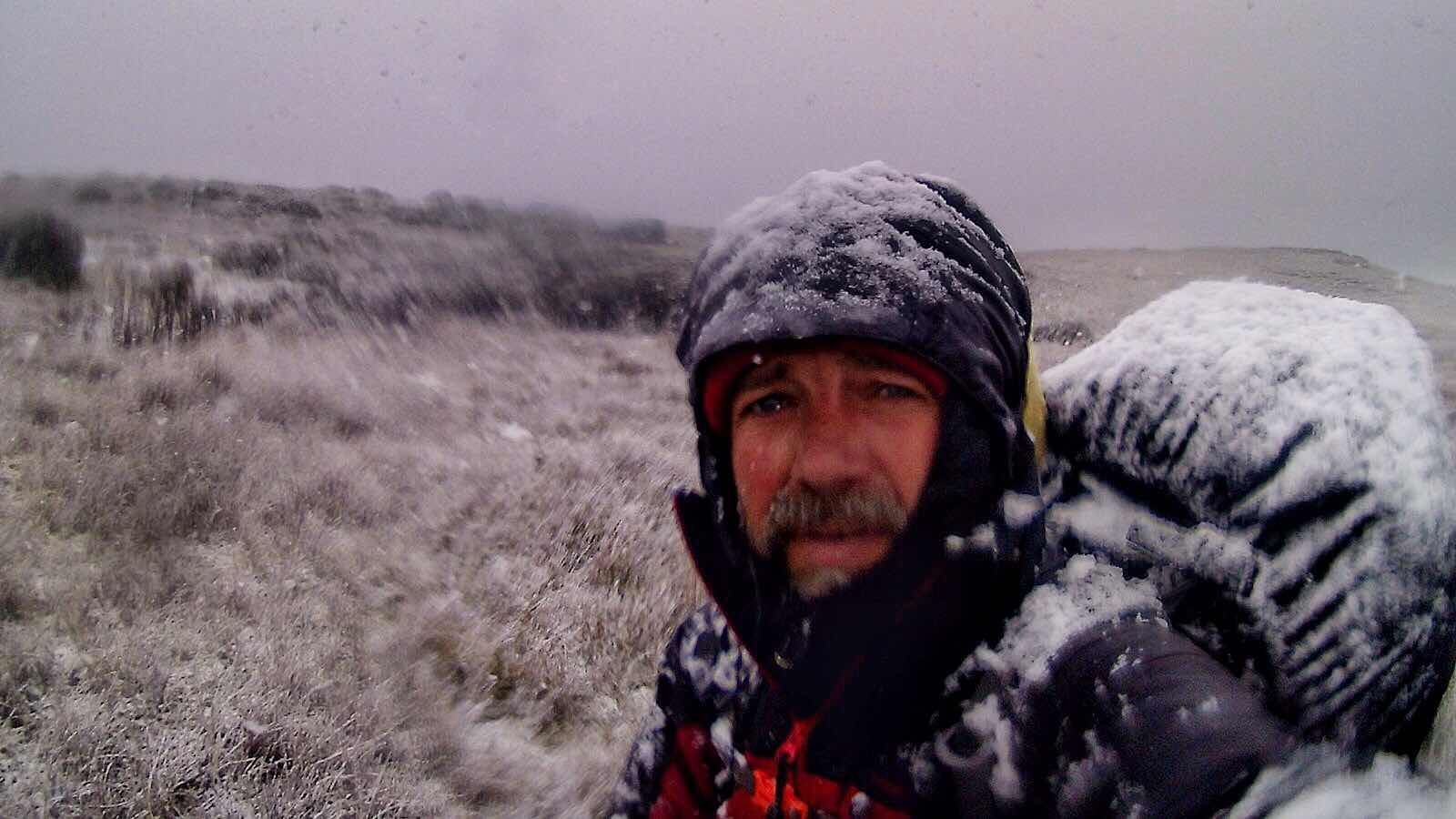 Snow trekking in Peninsula Mitre