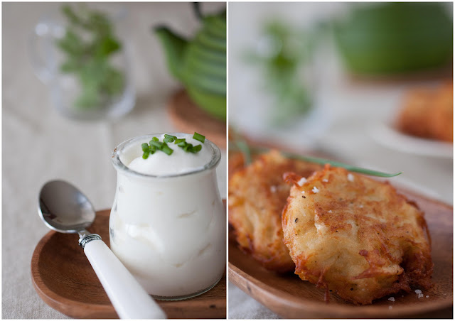 potato pancakes, latkes