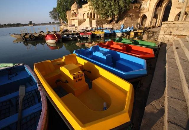 Boating in gadisar lake in Jaisalmer