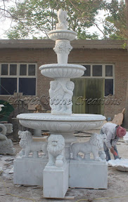 Animal, carved stone, Estate, Exterior, Fountain, Fountains, Ideas, Natural Stone, Tiered