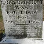 Nancy Crockett Born Feb. 4, 1818 Died June 24, 1887 (This person has not been identified)