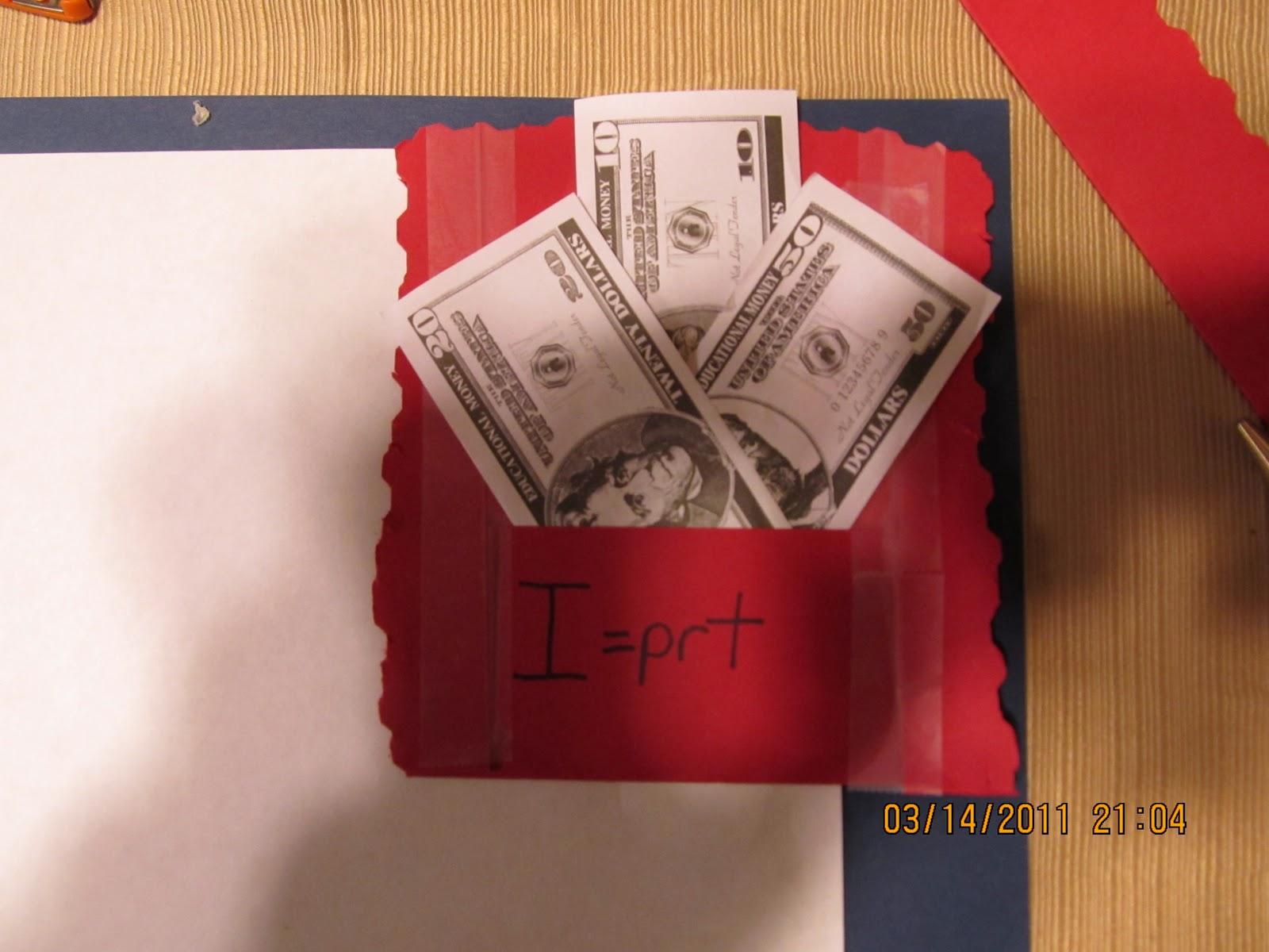 Hands On Math Teaching Simple Interest Choosing The Best Deal