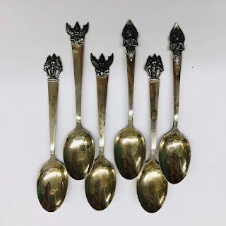 Sterling Siamese Decorative Spoon Lot