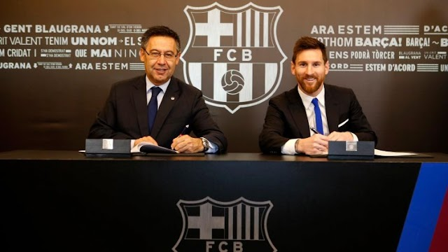 MESSI AGREES TO CUT HIS SALARY BY 50% FOR THE NEW BARCA CONTRACT