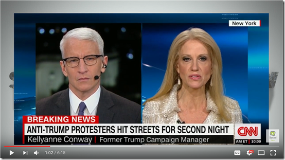 Anderson Cooper to Kellyanne Conway, I have to Give you Props