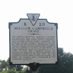 Historical marker for William Campbell's grave. He was a Revolutionary War Hero and was known as the