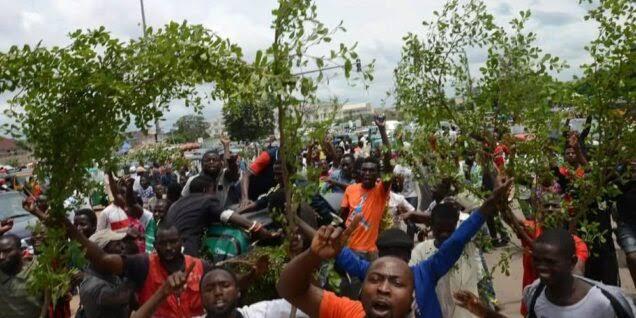 Breaking News: protest rocks Bayelsa as Goodluck is dead