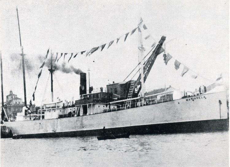 El vapor MARIANELA, segundo con ese nombre en la flota de Lopez Doriga. Foto del libro La Marina Cantabra. desde el Vapor. Volumen III.tif