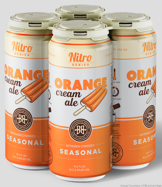 Breckenridge Releasing Nitro Orange Cream Ale Cans